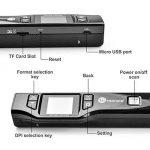 Mini Scanner Portable TaoTronics Document Scanner 1050 DPI avec Écran 1.44'TFT Couleur ou Mono (Format JPG/PDF, Carte Micro SD Requise mais Non Incluse, Non Compatible avec Mac et Windows 10) de la marque TaoTronics image 2 produit