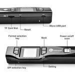 Mini Scanner Portable TaoTronics Document Scanner 1050 DPI avec Écran 1.44'TFT Couleur ou Mono (Format JPG/PDF, Carte Micro SD Requise mais Non Incluse, Non Compatible avec Mac et Windows 10) de la marque TaoTronics image 2 produit