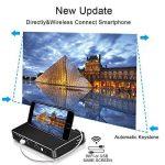 Mini vidéoprojecteur Full HD, Yaufey DLP Pico Projecteur 150 ANSI Lumens Petit Vidéoprojecteur Bluetooth WiFi de Poche Vidéoprojecteur Full HD 1920 x 1080P, Contraste 2000:1 Android 7.1 projecteur de la marque Yaufey image 2 produit