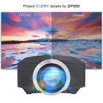 Mini Vidéo Projecteur LED, Deeplee DP500 2000 Lumen Videoprojecteur Portable Soutien HD 1080P HDMI USB VGA AV SD,Projecteur de Cinéma Maison (Noir) de la marque Deeplee image 2 produit