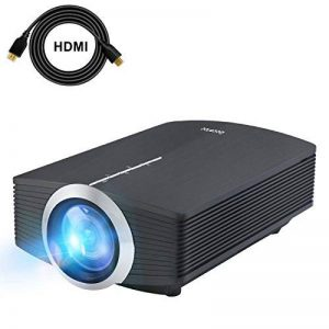 Mini Vidéo Projecteur LED, Deeplee DP500 2000 Lumen Videoprojecteur Portable Soutien HD 1080P HDMI USB VGA AV SD,Projecteur de Cinéma Maison (Noir) de la marque Deeplee image 0 produit
