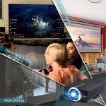 Mini Vidéo Projecteur LED, Deeplee DP500 2000 Lumen Videoprojecteur Portable Soutien HD 1080P HDMI USB VGA AV SD,Projecteur de Cinéma Maison (Noir) de la marque Deeplee image 3 produit