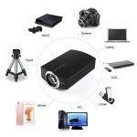 Mini Vidéo Projecteur LED, LESHP Videoprojecteur HD 1080P 1200LM- Soutien HDMI USB VGA AV SD pour Cinéma Maison Théâtre TV Ordinateur Portable Jeu(1200LM) de la marque Footprintse image 2 produit