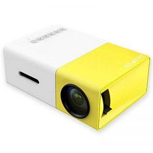 Mini Vidéoprojecteur, Deeplee Portable LED LCD Vidéoprojecteurs Théâtre avec entrée USB/SD/AV/HDMI pour Ordinateur Ordinateurs Portables PC USB Disk, de Film et de Jeu vidéo - Jaune de la marque Deeplee image 0 produit