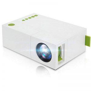 Mini Vidéoprojecteur, Deeplee Portable LED LCD Vidéoprojecteurs Théâtre avec entrée USB/SD/AV/HDMI pour Ordinateur Portables PC USB Disk, de Film et de Jeu vidéo - Blanc de la marque Deeplee image 0 produit