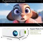 Mini Vidéoprojecteur, Deeplee Portable LED LCD Vidéoprojecteurs Théâtre avec entrée USB/SD/AV/HDMI pour Ordinateur Portables PC USB Disk, de Film et de Jeu vidéo - Blanc de la marque Deeplee image 4 produit