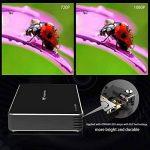 Mini Vidéoprojecteur, Tenswall Android7.1 Portable Projecteur WiFi DLP Projecteur 100 ANSI Lumens, FHD 1080P Pico Projecteur, Ajustement Automatique des Trapèzes,Smart Home Cinéma/Vidéo TV/ Jeux de la marque Tenswall image 1 produit
