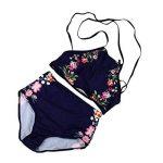 Minshao Femme Ensemble bikini maillots de bain push-up rembourré Imprimé géométrique Soutien-gorge Maillot de bain de la marque Minshao image 1 produit