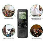 Miric Dictaphone Numérique, 8Go Enregistreur Vocal Portable, haute qualité 1536Kbps Enregistreur vocal stéréo PCM Linearity, Double microphone de la marque Miric image 2 produit
