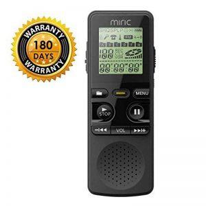 Miric Dictaphone Numérique, 8Go Enregistreur Vocal Portable, haute qualité 1536Kbps Enregistreur vocal stéréo PCM Linearity, Double microphone de la marque Miric image 0 produit