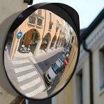 Miroir convexe Premium - Miroir de sécurité incurvé réglable de 30 cm pour l'intérieur et l'extérieur - Étend votre champ de vision pour augmenter la sécurité de la marque NOVAATO image 3 produit