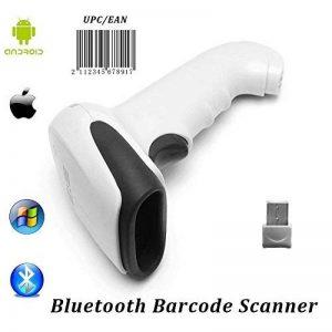 【Mise à jour 2.0】 1D Bluetooth Barcode Scanner MUNBYN Filaire + Sans fil 2 en 1 Laser Barcode Reader pour Android iOS Système Windows (Blanc) de la marque MUNBYN image 0 produit