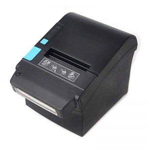 [Mise à jour 2.0] 300 mm / sec / 80 mm Imprimante thermiques/ avec détecteur de billets UV Imprimante de reçus thermiques / /MUNBYN Imprimante de caisses enregistreuses avec USB Ethernet pour impression de reçus Facture / Soutenir POS / ESC/ Windows / PC image 0 produit