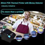 [Mise à jour 2.0] 300 mm / sec / 80 mm Imprimante thermiques/ avec détecteur de billets UV Imprimante de reçus thermiques / /MUNBYN Imprimante de caisses enregistreuses avec USB Ethernet pour impression de reçus Facture / Soutenir POS / ESC/ Windows / PC image 4 produit