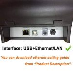 [Mise à Niveau 2.0] 80 mm Imprimante Thermique Directe avec USB Ethernet pour Windows PC/ESC/POS de la marque MUNBYN image 4 produit