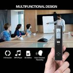 Miuko Dictaphone Numérique, Mini enregistreur Vocal Portable, 1536 kpbs 8GB de Capacité Interne (possibilité d'ajouter une carte micro SD 32Gb) –Audio Exceptionnelle Avec Fonction D'enregistrement Automatique. Corps en Aluminium de la marque Miuko image 4 produit