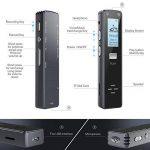 Miuko Dictaphone Numérique, Mini enregistreur Vocal Portable, 1536 kpbs 8GB de Capacité Interne (possibilité d'ajouter une carte micro SD 32Gb) –Audio Exceptionnelle Avec Fonction D'enregistrement Automatique. Corps en Aluminium de la marque Miuko image 1 produit