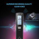 Miuko Dictaphone Numérique, Mini enregistreur Vocal Portable, 1536 kpbs 8GB de Capacité Interne (possibilité d'ajouter une carte micro SD 32Gb) –Audio Exceptionnelle Avec Fonction D'enregistrement Automatique. Corps en Aluminium de la marque Miuko image 3 produit