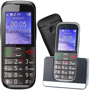 Mobiho Essentiel Le Classic Elegant 2-3G - Téléphone Portable Senior, Compatible à Quelqu'un Qui Veut Un Appareil Complet à Grosse Touche - DEBLOQUE Tout OPERATEUR. de la marque Mobiho-Essentiel image 0 produit