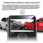 Modohe WiFi Caméra de Voiture Full HD 1080P Grand Angle de 170° Caméra Embarquée, Enregistrement En Boucle, Détection de Mouvement, Dashcam Voiture Avec Objectif Réglable Écran 2.45 Pouces LCD de la marque Modohe image 3 produit