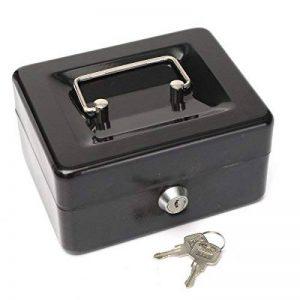 MOHOO Caisse à Monnaie Cassette Sécurité Coffre-fort en Acier Inoxydable Tirelire Portable petite cassette caisse enregistreuse avec serrure et 2 clés de transport Cassette de la marque MOHOO image 0 produit