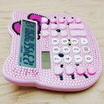Molog calculatrice solaire et pile AAA double Puissance calculatrice de forme de dessin animé de chat mignon Fournitures de bureau de la marque Molog image 3 produit