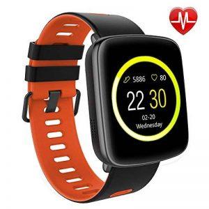 Montre Connectée pour iPhone et Android,Willful SW018 Bluetooth Smartwatch étanche IP68 Montre Fitness Montre Sport (Cardiofréquencemètre, Podomètre, Sommeil) avec Écran Tactile, Réveil, Chronomètre, Appel SMS Afficher, Notification d'application ( Whatsa image 0 produit