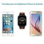 Montre Connectée pour iPhone et Android,Willful SW018 Bluetooth Smartwatch étanche IP68 Montre Fitness Montre Sport (Cardiofréquencemètre, Podomètre, Sommeil) avec Écran Tactile, Réveil, Chronomètre, Appel SMS Afficher, Notification d'application ( Whatsa image 2 produit