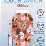 Montre LED numérique fille, enfants et adolescents, bracelet en silicone souple et doux au toucher, cadeau tendance, avec motifs bébés animaux chat et chien, Kiddus KI10205 de la marque Regalos-para-niños image 2 produit