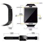 Montres Connectée, LATEC Smartwatch Bluetooth Smart Watch avec Caméra Écran Incurvé Tactile Support SIM / TF Card Podomètre Sommeil Compatible Smartphones Android de la marque CHEREEKI image 3 produit