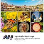 Mpow 3 en 1 Universal Kit Objectif Fisheye Clip-On 0.33 x Suprême Fisheye + 0.36 x Objectif grand angle + 20 x Objectif Macro pour iPad, iPhone 6 6s 6 Plus, iPhone SE, iPhone 5s 5c 4s, Samsung Galaxy S6/S6 Edge S7/S7 Edge S5/S4/S3, Huawei, Wiko, one plus, image 2 produit