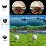 Mpow 3 en 1 Universal Kit Objectif Fisheye Clip-On 0.33 x Suprême Fisheye + 0.36 x Objectif grand angle + 20 x Objectif Macro pour iPad, iPhone 6 6s 6 Plus, iPhone SE, iPhone 5s 5c 4s, Samsung Galaxy S6/S6 Edge S7/S7 Edge S5/S4/S3, Huawei, Wiko, one plus, image 3 produit