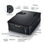 Mpow Vidéo Projecteur LCD Mini Théâtre Domestique Multimédia Portable avec USB SD HDMI VGA pour Cinéma d'Arrière-Cour, de Film et de Jeu vidéo avec Feuille d'Essuyage et Câble HDMI de la marque Mpow image 1 produit