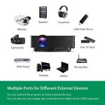 Mpow Vidéo Projecteur LCD Mini Théâtre Domestique Multimédia Portable avec USB SD HDMI VGA pour Cinéma d'Arrière-Cour, de Film et de Jeu vidéo avec Feuille d'Essuyage et Câble HDMI de la marque Mpow image 4 produit