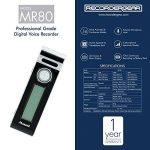 Mr80Mini Clip Petit Enregistreur Vocal activé Appareil d'enregistrement Audio Tiny Micro + 72Heures Vie de la Batterie W/Extended Battery Pack de la marque E|Sonic image 2 produit