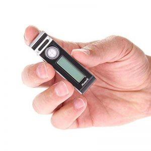 Mr80Mini Clip Petit Enregistreur Vocal activé Appareil d'enregistrement Audio Tiny Micro + 72Heures Vie de la Batterie W/Extended Battery Pack de la marque E|Sonic image 0 produit