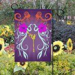MUMIMI Plantes Défilement Composition Jardin Drapeau 30,5x 45,7cm 2Côtés Yard Décoration Polyester Outddor Drapeau, Multicolore, 12x18(in) de la marque image 1 produit
