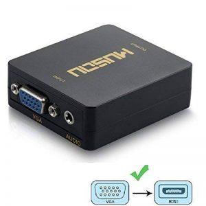Musou VGA vers HDMI + audio de 3,5 mm Adaptateur Convertisseur | convertisseur pleine HD 1080p de l'analogique au projecteur de TV numérique HDTV Converter de la marque Musou image 0 produit