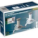 My Wall H16-2WL Support de plafond pour projecteur charge max. 10kg, écart plafond/support 145-210mm Blanc de la marque MyWall image 1 produit