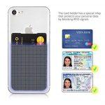 MyGadget Porte Cartes pour Smartphone - Anti signaux RFID - Pochette adhésive élastique - Wallet Universel pour Papiers & Fourre Tout - Etui Gris de la marque MyGadget image 1 produit