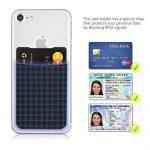 MyGadget Porte Cartes pour Smartphone - Anti signaux RFID - Pochette adhésive élastique - Wallet Universel pour Papiers & Fourre Tout - Etui Noir de la marque MyGadget image 1 produit