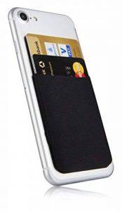 MyGadget Porte Cartes pour Smartphone - Anti signaux RFID - Pochette adhésive élastique - Wallet Universel pour Papiers & Fourre Tout - Etui Noir de la marque MyGadget image 0 produit