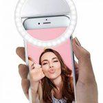 MyGadget Selfie Light Ring pour Smartphone - Anneau Macro Clip 36 LED & 3 Niveaux - Rechargeable par USB - Pour par ex. Samsung/iPhone/HTC - Blanc de la marque MyGadget image 4 produit