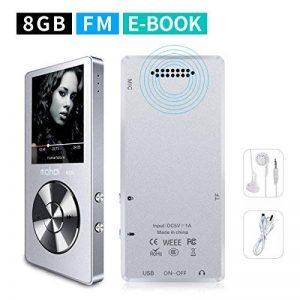 Mymahdi 8 Go MP3 Portable (extensible jusqu'à 128 Go), de musique/une touche de Enregistreur vocal/radio FM 70 heures de avec haut-parleur externe HD, Argent de la marque MYMAHDI image 0 produit