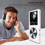 Mymahdi 8 Go MP3 Portable (extensible jusqu'à 128 Go),de musique/une touche de Enregistreur vocal/radio FM 70 heures de avec haut-parleur externe HD,Blanc de la marque MYMAHDI image 2 produit
