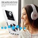 Mymahdi 8 Go MP3 Portable (extensible jusqu'à 128 Go),de musique/une touche de Enregistreur vocal/radio FM 70 heures de avec haut-parleur externe HD,Blanc de la marque MYMAHDI image 1 produit