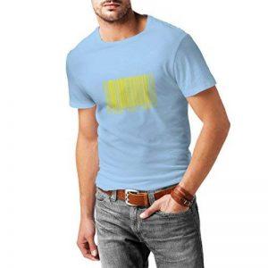 N4006 T-shirt pour hommes drôle code à barres de la marque lepni.me image 0 produit