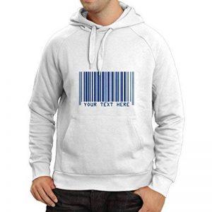 N4006H Sweatshirt à capuche manches longues drôle code à barres de la marque lepni.me image 0 produit