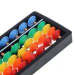 Nankod Les maths de l'enfant apprennent la calculatrice de Soroban de l'outil en plastique coloré de l'outil arithmétique de calcul de 7 chiffres de la marque Nankod image 3 produit