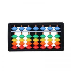 Nankod Les maths de l'enfant apprennent la calculatrice de Soroban de l'outil en plastique coloré de l'outil arithmétique de calcul de 7 chiffres de la marque Nankod image 0 produit